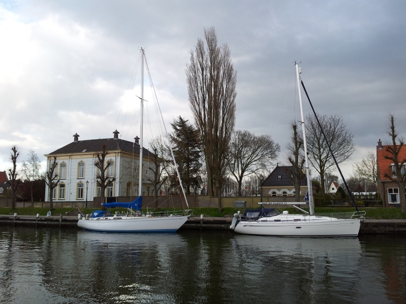 In de Middenhaven in Medemblik
